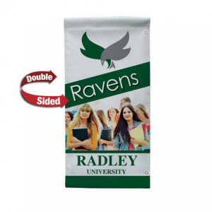 24 Inch Wide Double Sided Pole Banner Only